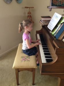 Lucy loves piano!